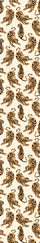 TenStickers. Children's tiger drawings cool animal wallpaper. Looking for an animal wallpaper for children room?. Then you should purchase this wallpaper with different tigers positioned in different styles.