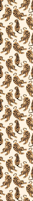 TenStickers. papel de parede animais Desenhos infantis de tigre. à procura de um papel de parede animal para o quarto das crianças?. Então você deve comprar este papel de parede com diferentes tigres posicionados em estilos diferentes.
