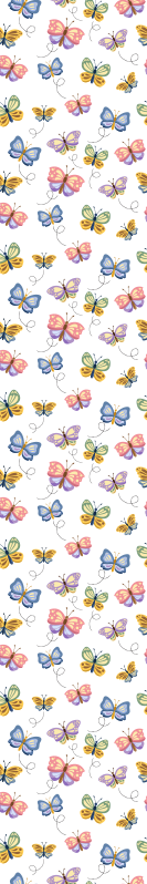 TenStickers. Multicolored butterflies bedroom wallpaper. Improve any space with this brilliant looking colorful butterflies butterfly wallpaper. It is manufactured with quality material and it is durable.