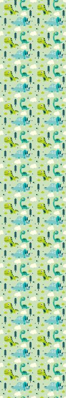 TenVinilo. Papel pared infantil parque de dinosaurios. ¿Te gusta la prehistoria y los dinosaurios? A tu hija le va a encantar este papel pared infantil de dinosaurios y de color verde ¡Envío exprés!