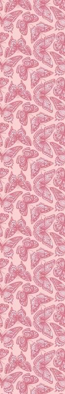 TenStickers. carta da parati con farfalle Farfalla rosa e bianca. Carta da parati rosa che presenta uno splendido motivo di farfalle rosa e bianche, tutte con motivi unici sulle ali. Alta qualità.