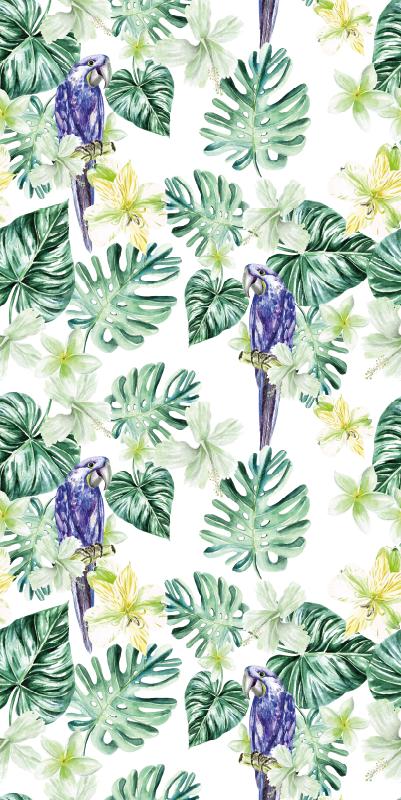 TenVinilo. Papel pintado de animales loros hojas tropicales. ¡Pida este papel pintado de animales fresco hoy y sorpréndase con su alta calidad y diseño único! ¡Elige las unidades! ¡Envío exprés!
