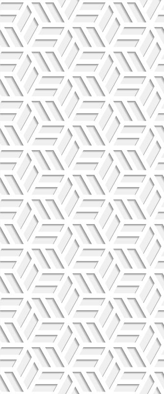 TenStickers. Tapisserie moderne Ombre imprimée moderne. Papier peint gris à motifs modernes 3d pour salon, cuisine, salon, bureau et autre décoration d'espace. Fait de matériaux de qualité et de pouf plissé