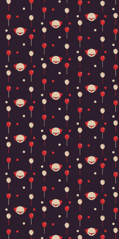 TenStickers. Clowns Spooky Wallpaper. This cute product will surely bring your room so much more light! Purchase this wonderful product now! Buy it now from us at Tenstickers!